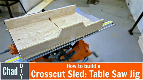 build  super simple crosscut sled table  jig doovi