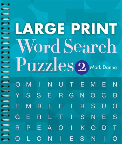large print word search puzzles   mark danna  format barnes noble