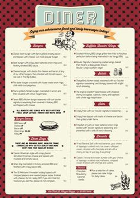 1000 Images About Retro 50s Diner On Pinterest Diner Menu Restaurant Menu Template And 50s Diner 1950s Menu Template
