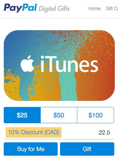 Itunes Gift Card Paypal - paypal digital gifts save 10 off itunes cards until april 22 iphone ipad mac android