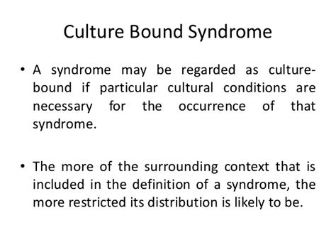 pattern maintenance organization definition culture bound syndrome medical anthropology