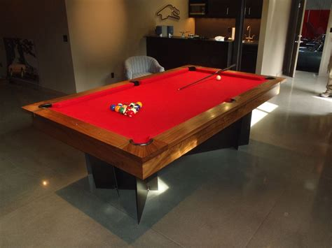 made modern pool table by dan joseph woodworks