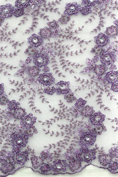 net french embroidery beaded sequin lace fabric for ladies suit high quality beaded french lace beads embroidery korea