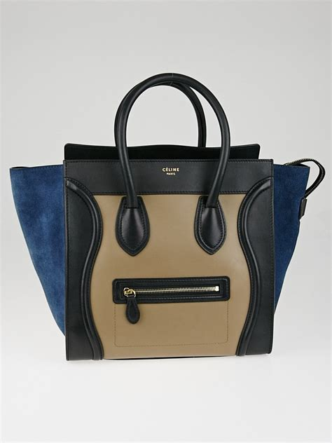 Jual Clutch Prada Saffiano Mirror Quality tricolor leather and suede leather large luggage
