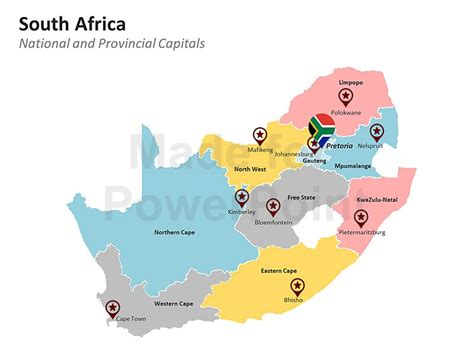 south africa map provinces and capitals image gallery africa map template