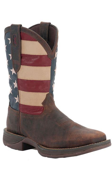 american flag mens boots durango rebel mens brown w american flag top square