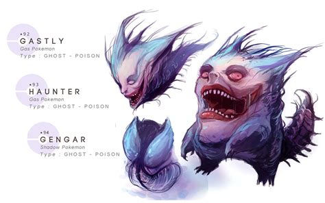 gastly haunter gengar by mrredbutcher on deviantart