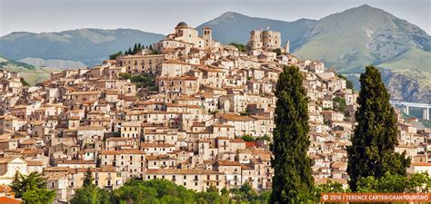 in calabria hilltop towns of calabria and atmospheric mountain
