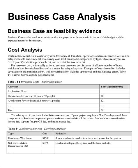 project financial analysis template project financial analysis template gallery template