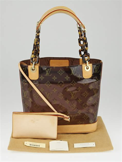 louis vuitton limited edition vinyl monogram ambre pm bag
