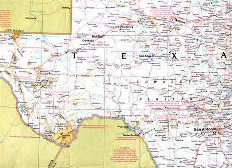 west texas cities map 301 moved permanently