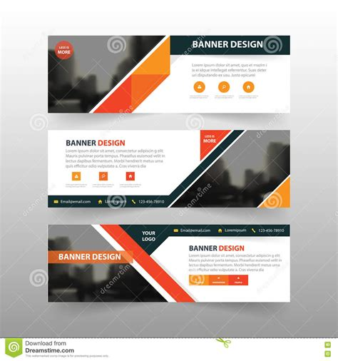 banner design layout orange abstract triangle corporate business banner