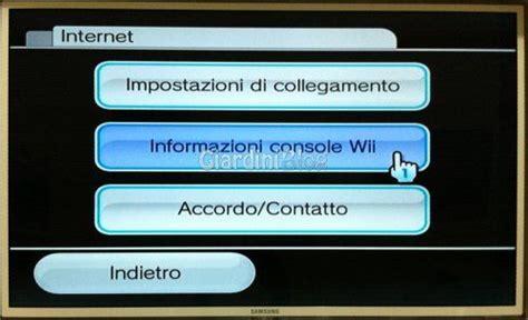 aggiornamento console wii modifica wii tutte le versioni