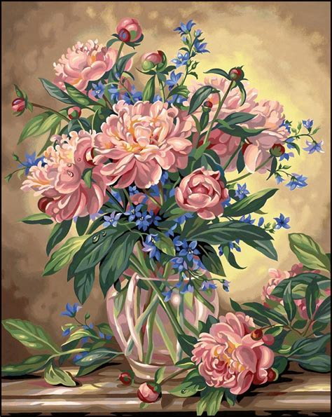 painting for adults flower paint by number kits paint by number for adults