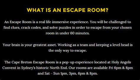what is escape the room review the cape breton escape room gocapebreton