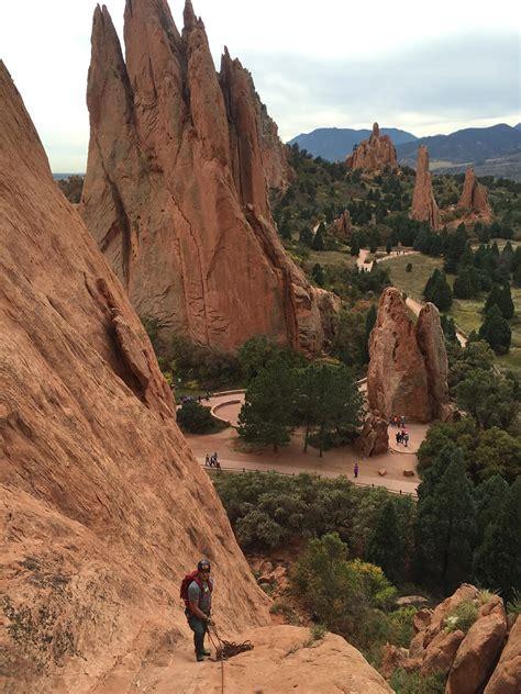 garden of the gods rock climbing with pikes peak alpine school