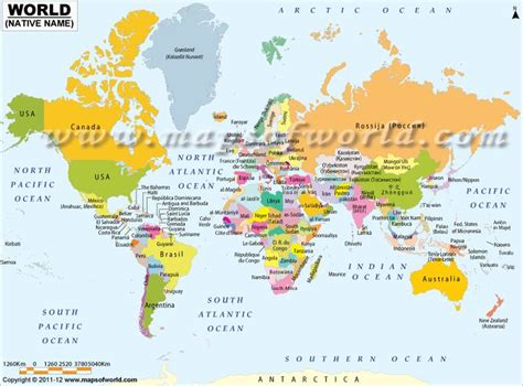 world map with country names world map showing country names in their language