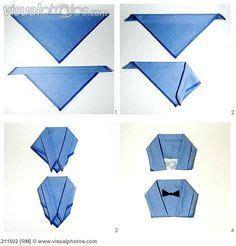 napkin folding instructions mans jacket google search