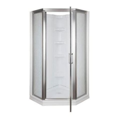 home depot shower 38 in x 38 in x 72 1 8 in standard fit corner shower kit