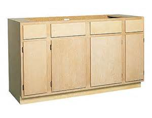 zee mfg sb60bh 60 in unfinished birch sink base cabinet at