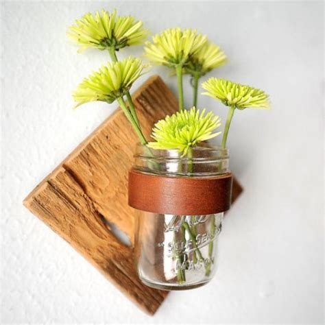 fall wall sconce individual mason jar sconce flower diy rustic mason jar sconce shelterness