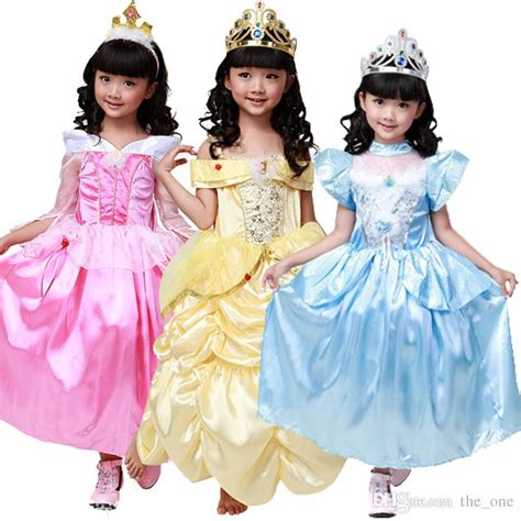 Online Cheap Belle Costume Kids Cinderella Costume Kids Sleeping Beauty Dress Belle Princess