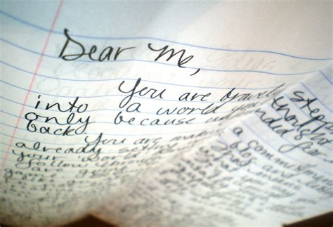 Letter Me If I Could Write A Letter To Me