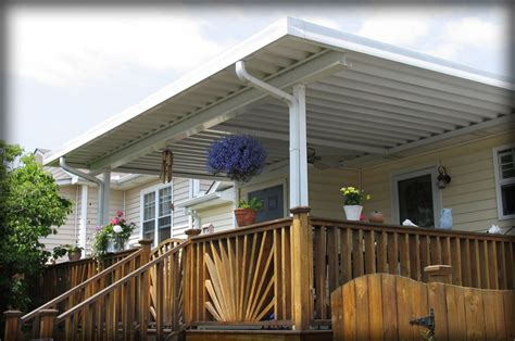 How To Build An Awning Over A Deck Residential Deck Awnings Residential Patio Canopies