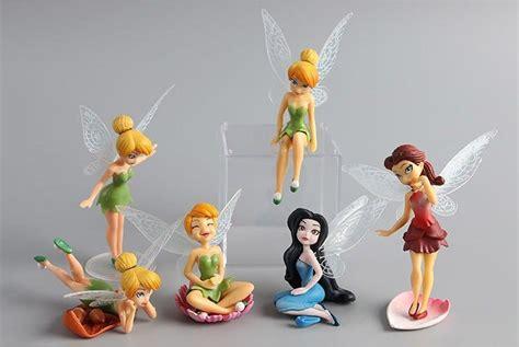 Figure Disney Fairies Tinker Bell Set 2 figure disney fairies tinkerbell s doll tinker bell pvc new gift ebay