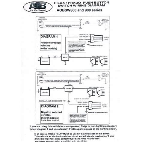 spotlight wiring diagram negative switching relay kit