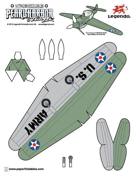 Paper Craft Aeroplane - aviones para armar construye un zero y un p 40 en papel