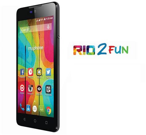 themes for android rio fun myphone rio 2 fun unveiled with android lollipop for