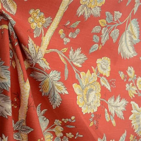 jacobean upholstery fabric island living crimson red jacobean floral drapery fabric by the yard contemporary upholstery