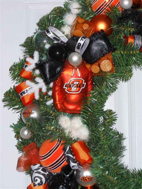 oklahoma state university christmas ornaments 14 best images about wreaths on snowflakes oklahoma state and