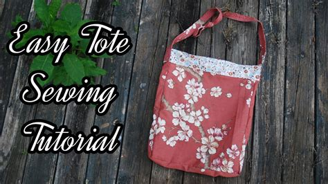 tote bag pattern free youtube how to make a tote bag sewing tutorial easy youtube