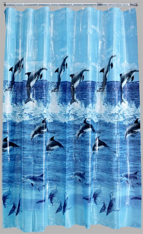 dolphin curtains aqualona dolphin peva shower curtain