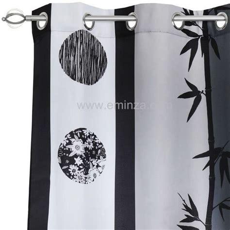 rideau noir et blanc 2825 rideau 140 x h260 cm san 233 noir rideau tamisant eminza