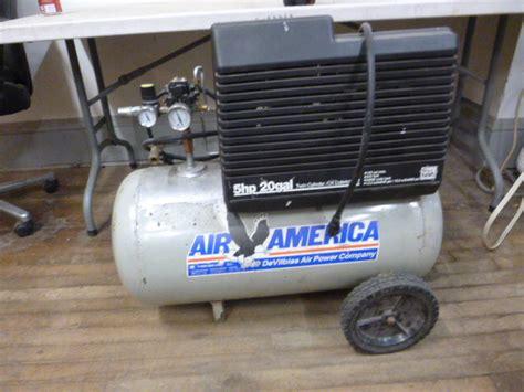 air america 5 hp 20 gallon air compressor northstar kimball october consignments 1 k bid