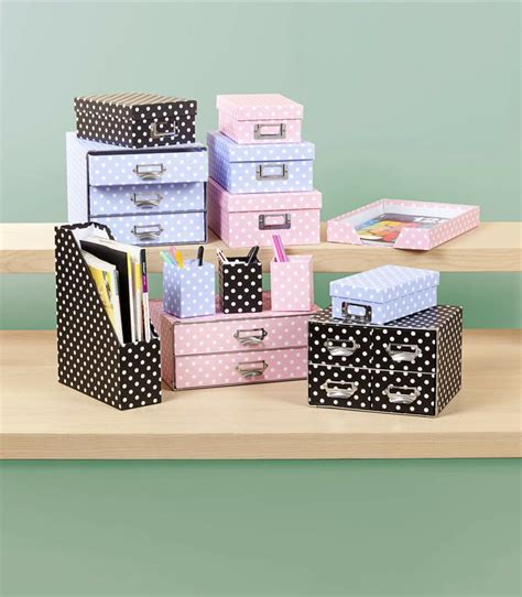 Polka Dot Desk Accessories From The Reject Shop Prices Polka Dot Desk Accessories