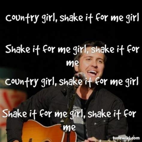 country girl shake it for me luke bryan lyrics youtube lyricart for country girl shake it for me by luke