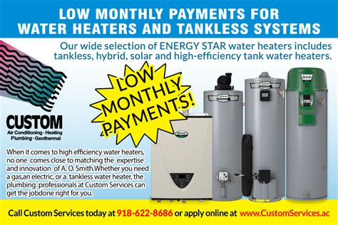 Custom Plumbing Services by Water Heater Service Custom Services
