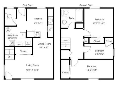 Bedroom Bath Story Townhouse House Plans 46021 | 3 bedroom townhouse floor plans glif org