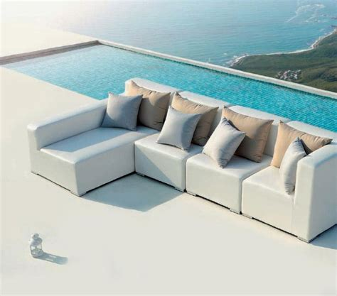 small outdoor couch white outdoor small sectional sofa vg420 outdoor