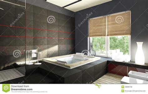 Schwarzes Badezimmer by Schwarzes Badezimmer Stock Abbildung Illustration