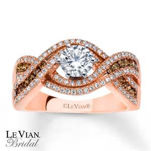 levian engagement rings le vian engagement ring chocolate diamonds 14k strawberry gold
