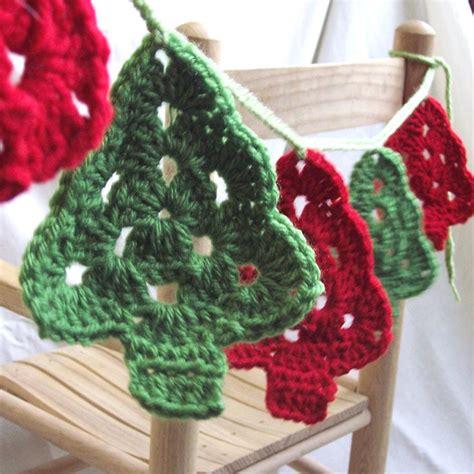 crochet pattern christmas tree bunting christmas trees crochet garland granny tree style
