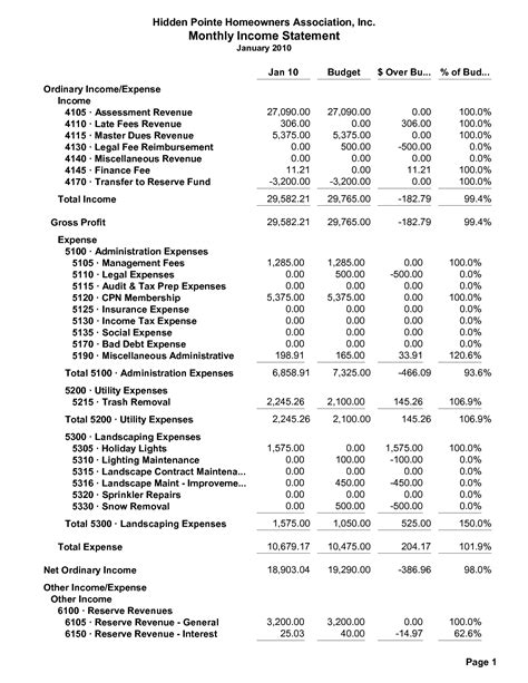 income and expense statement template excel natural buff dog