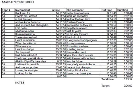 tv show budget template cut sheet docs and tv