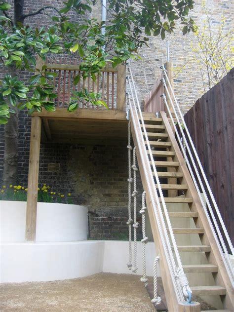 garden  wooden platform simon scott landscaping