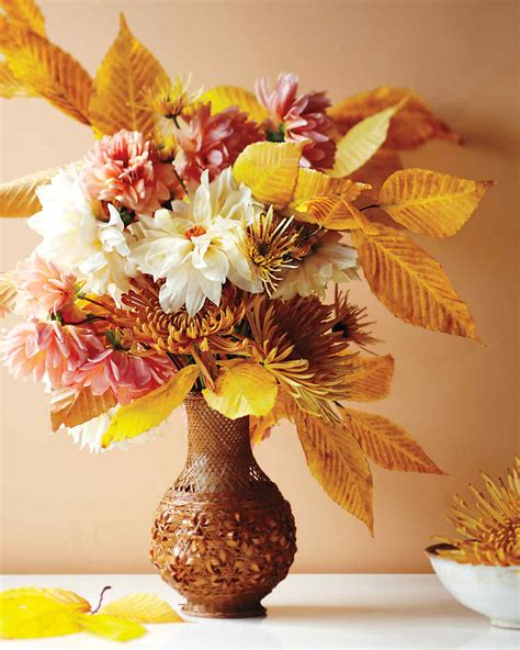 fall floral arrangements fall flower arrangements martha stewart